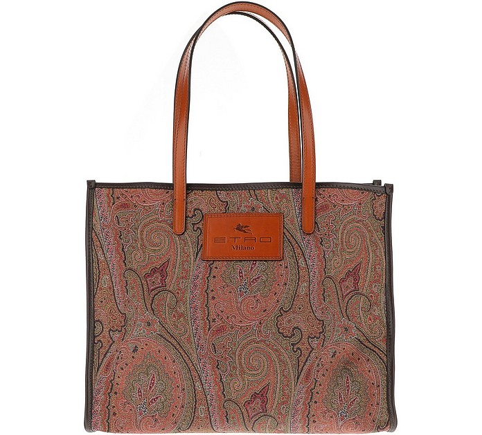 Paisley Jacquard Canvas Tote Bag - Etro