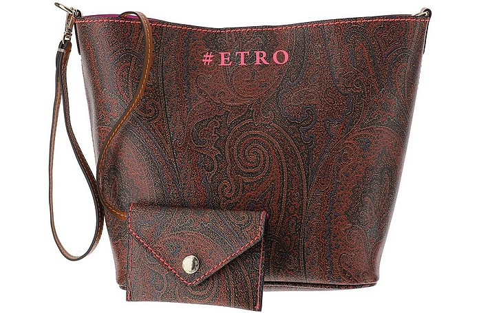 Paisley Print Coated Canvas Shoulder Bag - Etro