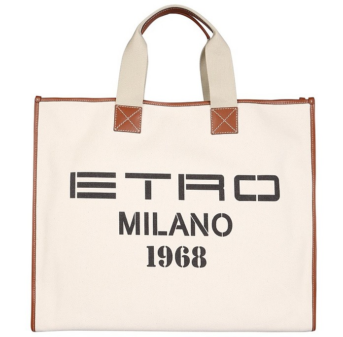 Shopping Bag With Logo Print - Etro / エトロ