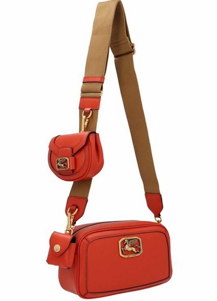 Red Pegaso Crossbody Bag - Etro