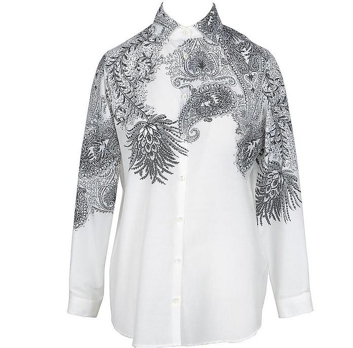 Women's White / Black Shirt - Etro