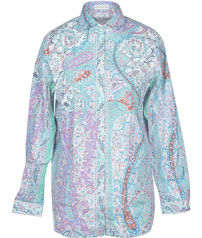 Women's Aqua Shirt - Etro