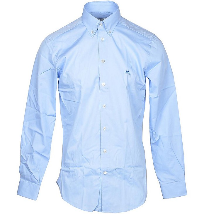 Sky Blue Men's Button-Down Shirt - Etro