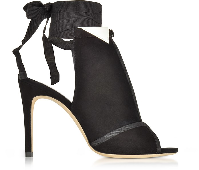La Jolie Black Suede High Heel Pump - Olgana Paris