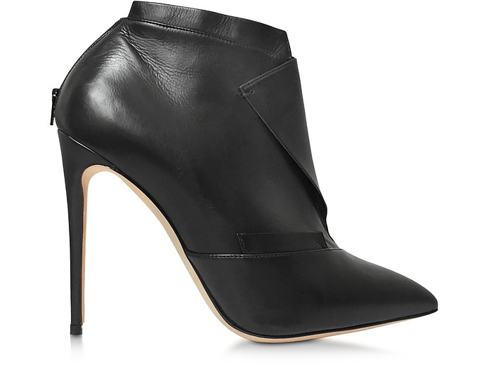 La Comtesse Black Leather Ankle Boot - Olgana Paris