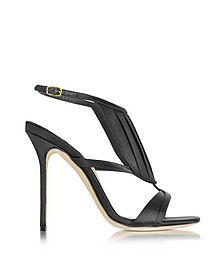 La Decouverte Black Satin Sandal - Olgana