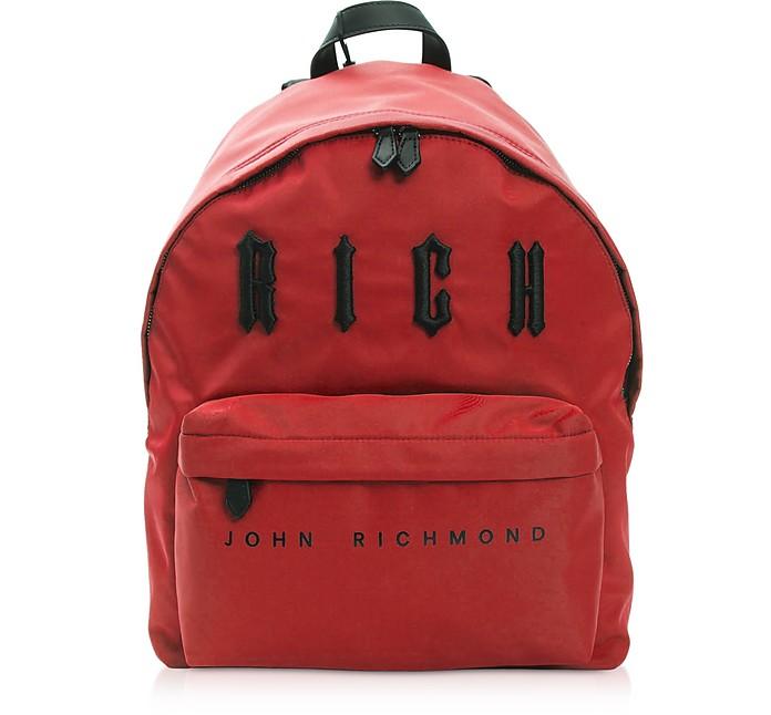 Antec Red & Black Nylon Backpack - John Richmond