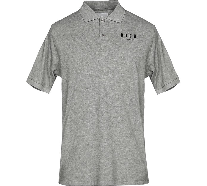 Gray Cotton Men's Polo Shirt - John Richmond
