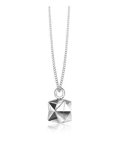 Sterling Silver Magic Ball Pendant Necklace - Origami