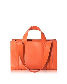 Costanza Orange Persimmon Medium Tote - Corto Moltedo