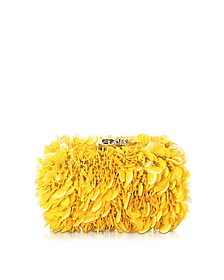 Susan C Star Yellow Explosion Nappa Leather Pochette w/Chain Strap - Corto Moltedo