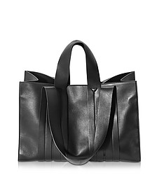 Costanza Beach Club Large Black Nappa Leather Tote - Corto Moltedo