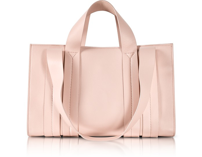 Costanza Beach Club Medium Shopper in Pelle Natural - Corto Moltedo