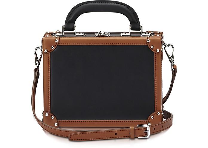 Black & Terra Leather Mini Squared Bertoncina Bag - Bertoni 1949