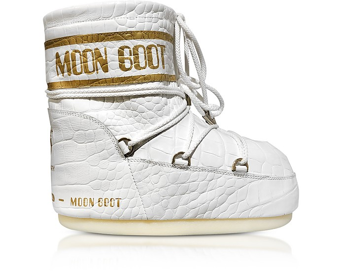 Classic 50 White Crocodile Boots - Moon Boot