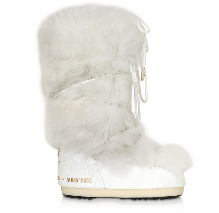 Classic 50 White Shearling Boots - Moon Boot
