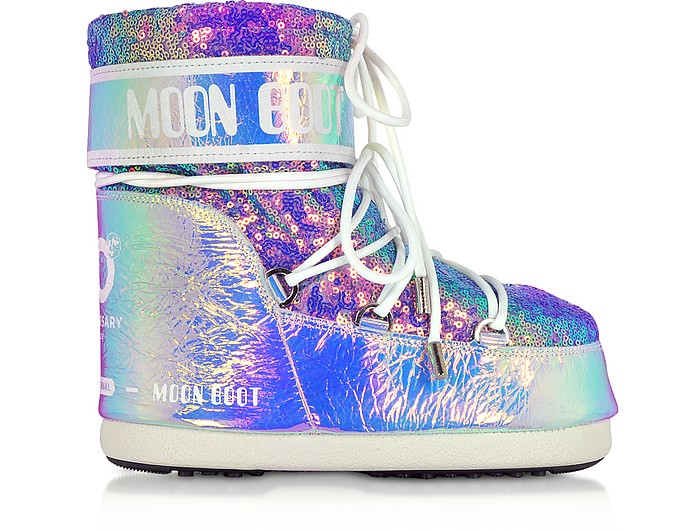 Classic 50 Glicine Leather Hologram Boots - Moon Boot