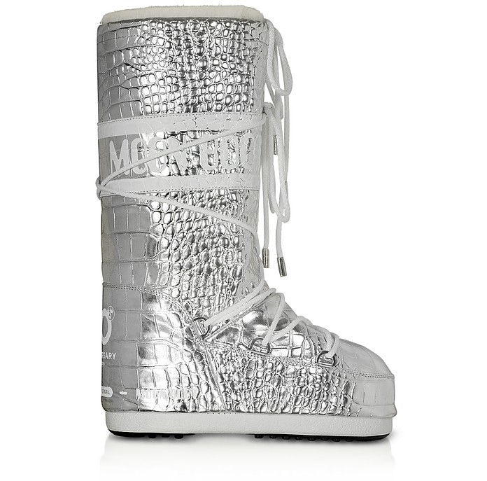Classic 50 Silver Crocodile Boots - Moon Boot