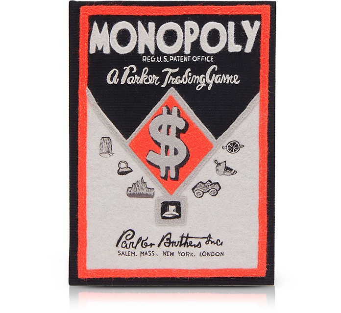 Cotton and Wool Monopoly Popular Edition Book Clutch - Olympia Le-Tan