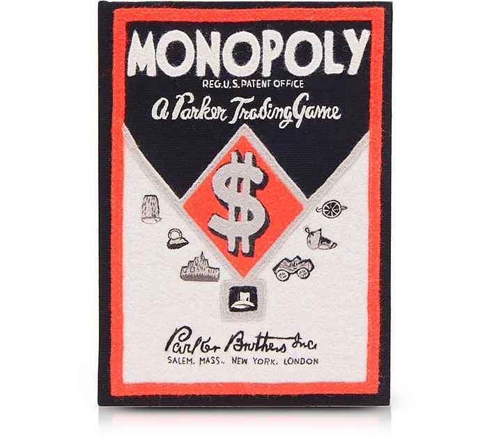 Cotton and Wool Monopoly Parker Trading Game Book Clutch - Olympia Le-Tan