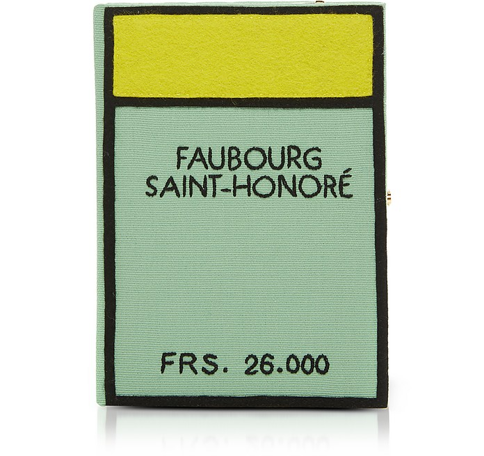 Cotton and Wool Faubourg Saint Honore Book Clutch w/Shoulder Strap - Olympia Le-Tan