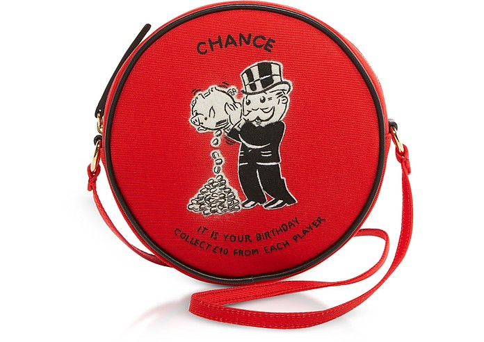 Red Cotton and Wool Chance Dizzie Bag - Olympia Le-Tan