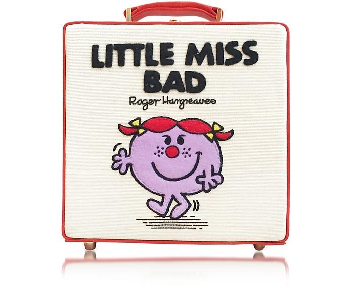 7 Inch Little Miss Bad Cream Cotton & Leather Handbag - Olympia Le-Tan