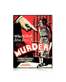 Murder Cotton and Wool Book Clutch - Olympia Le-Tan