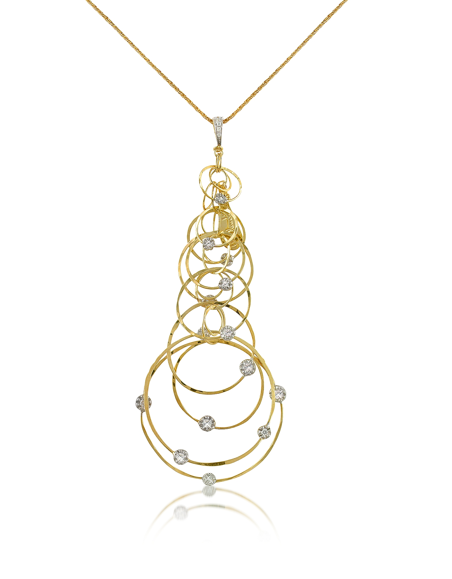 Scintille - Diamond 18K Yellow Gold Pendant Necklace