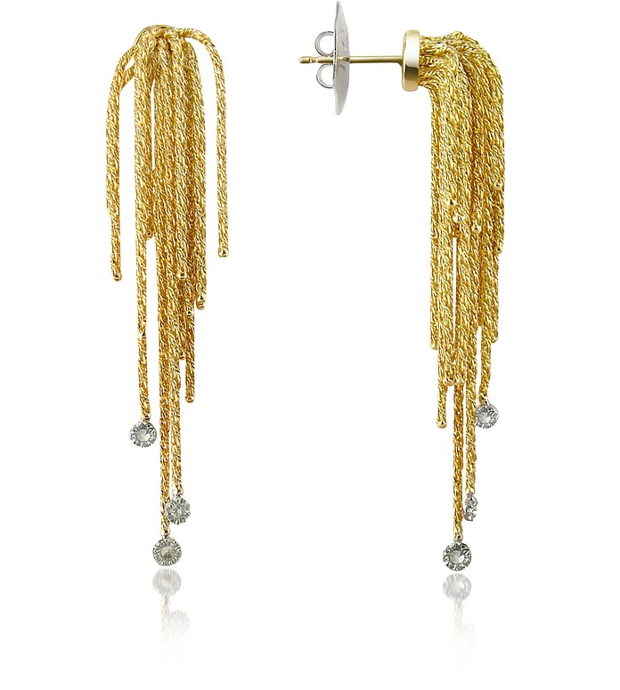 Flirt - Diamond Drops 18K Yellow Gold Earrings - Orlando Orlandini