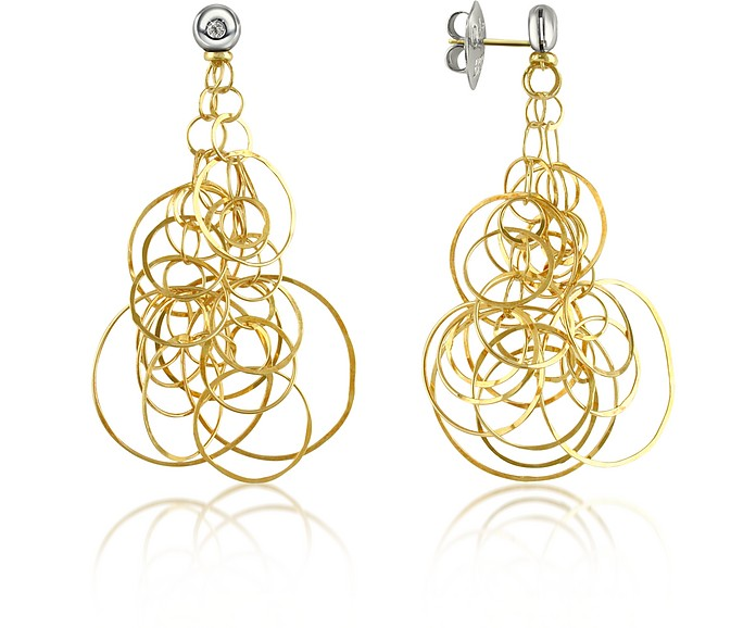 Scintille - Diamond 18K Gold Drop Earrings - Orlando Orlandini