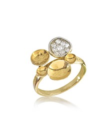 18K Yellow Gold Ring w/Diamond - Orlando Orlandini
