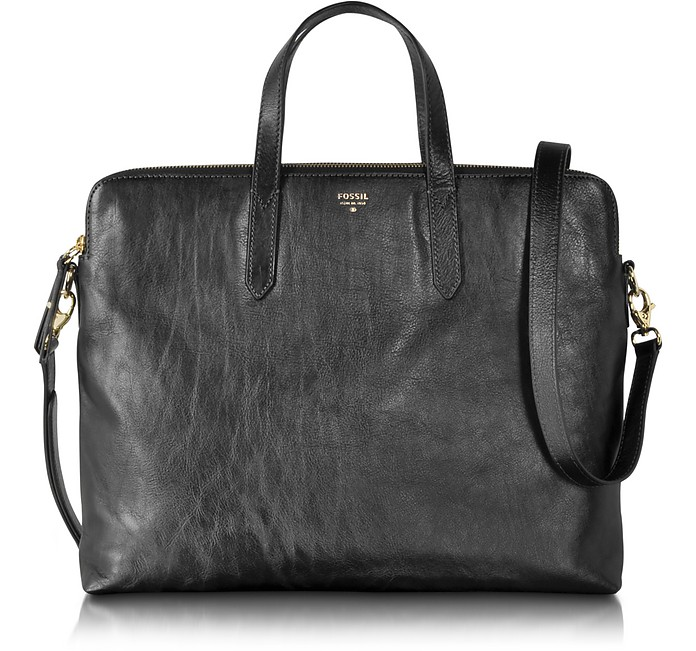 45781f063e Fossil Black Sydney Leather Work Bag at FORZIERI