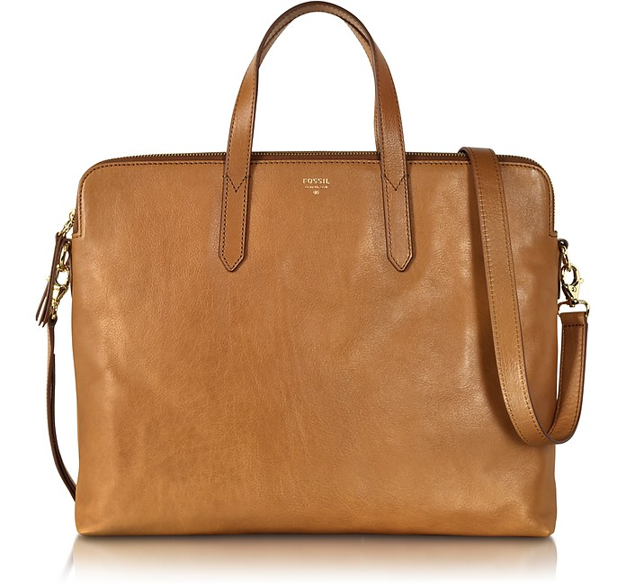 d42be3100a Fossil Camel Sydney Leather Work Bag at FORZIERI Australia
