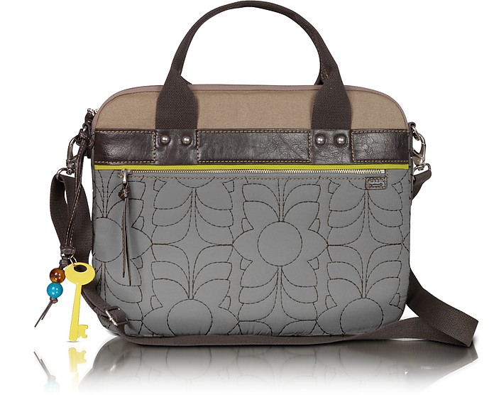 Fossil Grey Key Per - Quilted Laptop Tote at FORZIERI : quilted laptop tote - Adamdwight.com