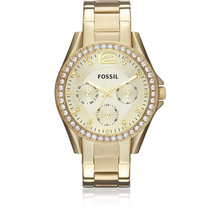 Riley Multi-Function Gold Tone Women's Watch - Fossil