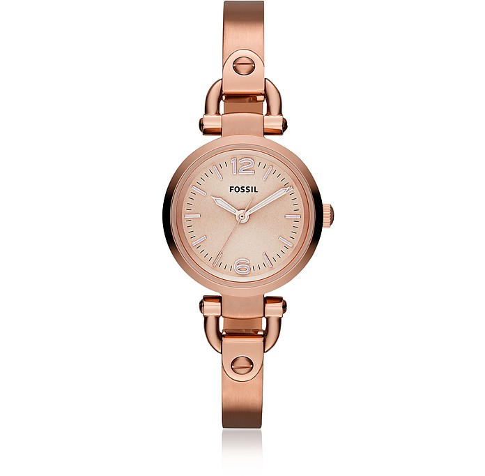 Georgia Mini Rose Tone Women's Watch - Fossil