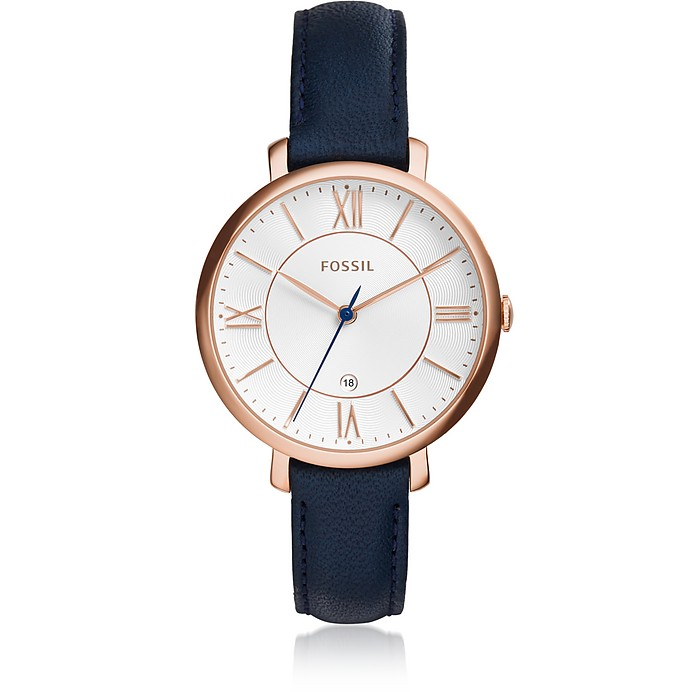 Jacqueline Blue Leather Women's Watch - Fossil