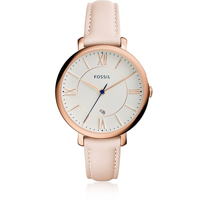 Jacqueline Blush Leather Women's Watch - Fossil