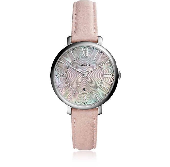 Jacqueline Three-Hand Date Blush Women's Watch - Fossil