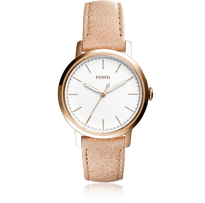 Neely Three Hand Sand Leather Women's Watch - Fossil