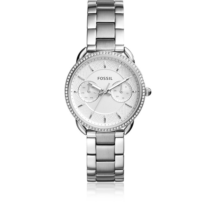 Tailor Multifunction Stainless Steel Crystal Watch - Fossil