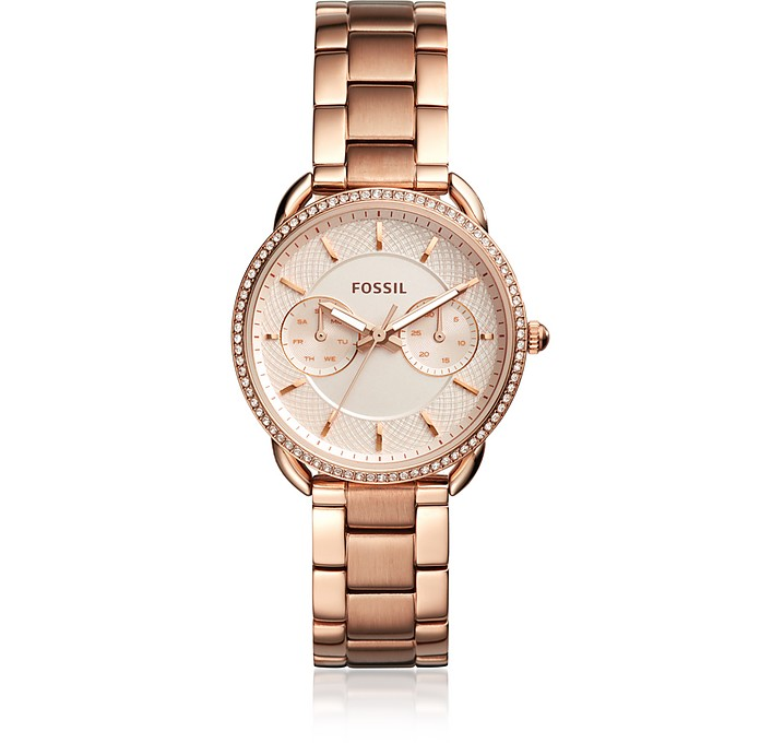 Tailor Multifunction Rose Gold-Tone Stainless Steel Watch - Fossil