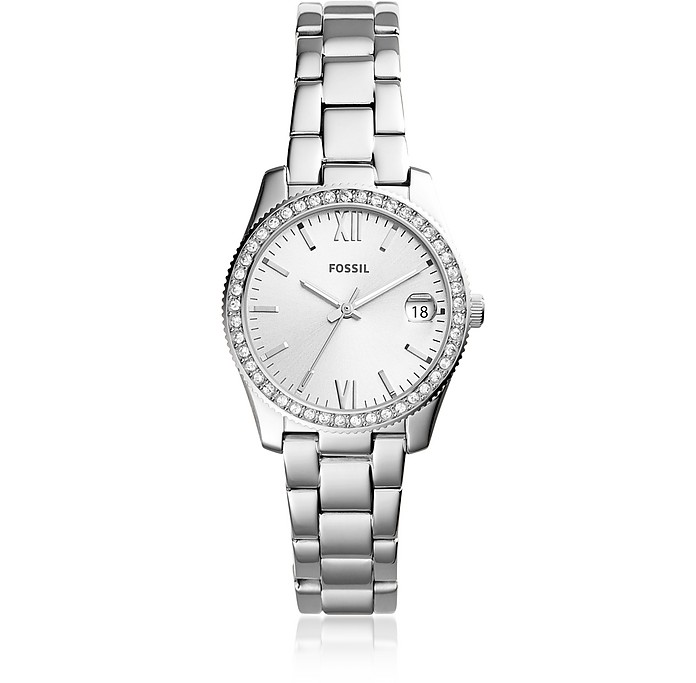 Scarlette Three-Hand Date Stainless Steel Women's Watch - Fossil