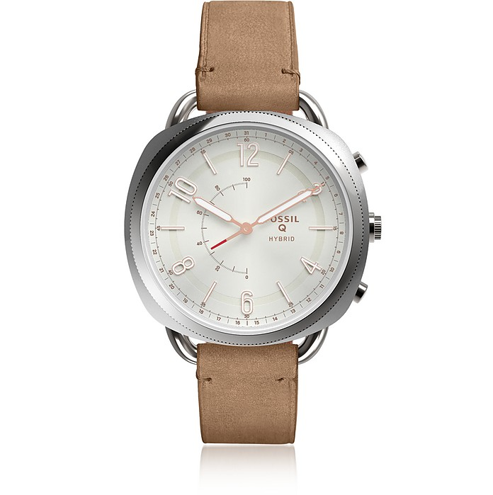 Hybrid Smartwatch - Q Accomplice San Leather Women's Smartwatch - Fossil