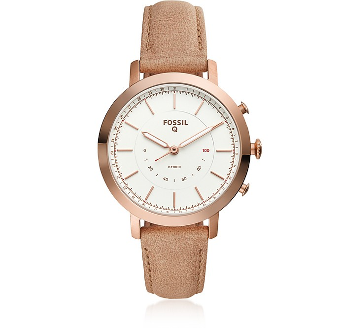 Hybrid Smartwatch - Q Neely Bone Leather Women's Smartwatch - Fossil