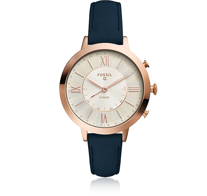 Hybrid Smartwatch - Q Jacqueline Navy Leather - Fossil