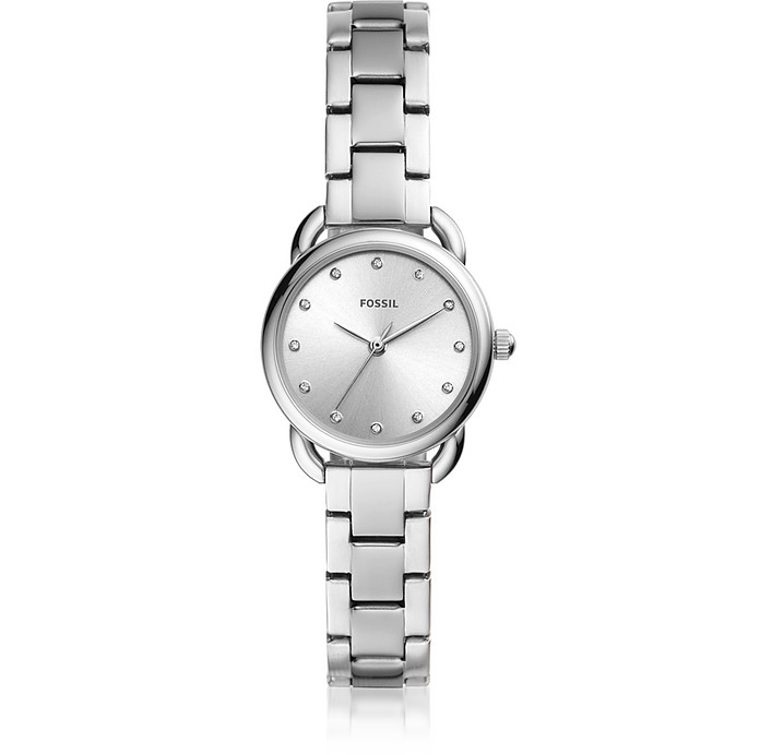 Tailor Three-Hand Mini Stainless Steel Watch  - Fossil