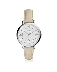 Jacqueline Stainless Steel Women's Watch w/Leather Band - Fossil