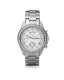 Decker Ladies Stainless Steel Watch - Fossil